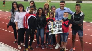 Деца изненадаха Лудогорец със специален подарък