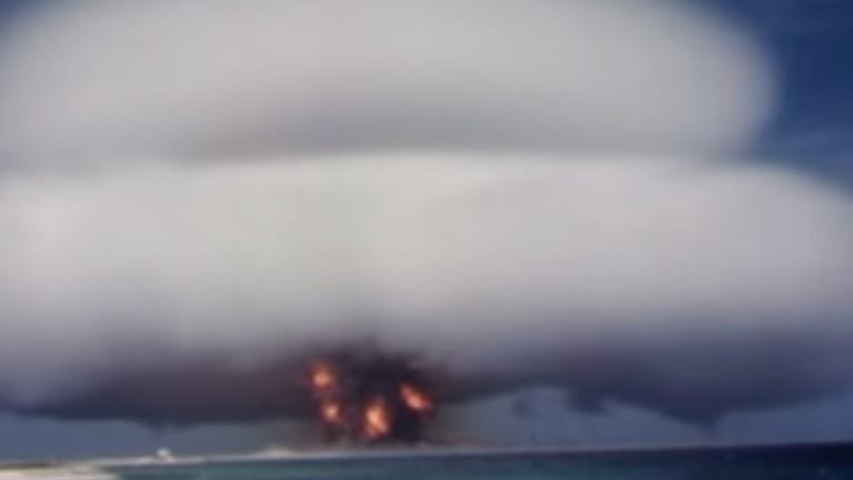 В САЩ публикуваха невиждани видеоматериали с ядрени изпитания