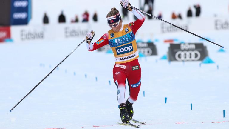 Норвежката Терезе Йохауг спечели интервалния старт на в ски бягането