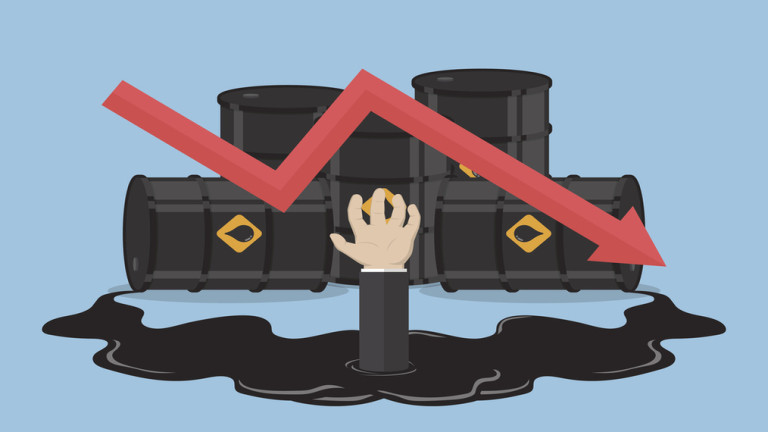 Цената на петрола се срина под $59 за барел