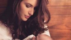 Моделката Кристина Милева показа сина си