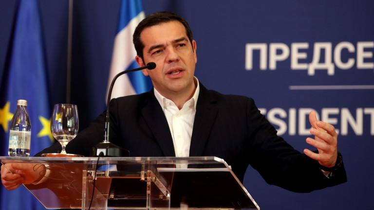 Ципрас иска вот на доверие, ако коалицията се разпадне заради Преспанската сделка