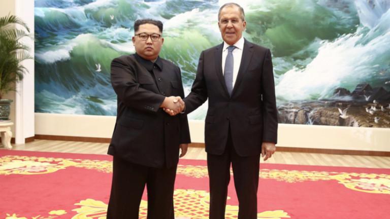 Лавров се срещна с Ким Чен-ун в Пхенян