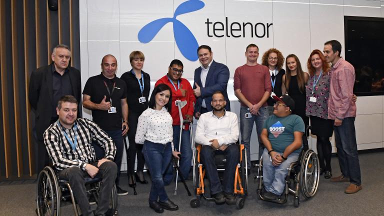 Програмата за наемане на хора с увреждания в Telenor приема четирима нови служители