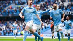 Манчестър Сити завърши сезона с разгромна победа
