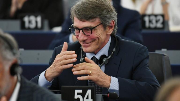 Италианецът социалист Давид-Мария Сасоли е новият шеф на Европейския парламент