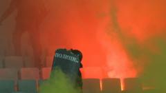 Петима задържани и един ранен полицай след мача България-Хърватия