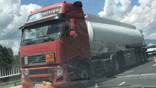 Затвориха част от околовръстното на Пловдив заради разлято масло