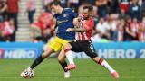 Саутхямптън - Манчестър Юнайтед 1:1 в мач от Висшата лига