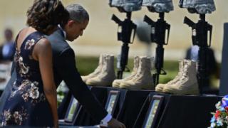 Обама почете жертвите на стрелбата във Форд Худ