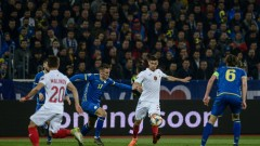 Косово - България 1:1 (Развой на срещата по минути)