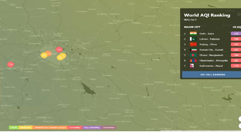 София влезе в червения сектор по мръсен въздух