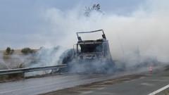 """Възстановено е движението на АМ """"Хемус"""" след инцидента със запалилия се тир"""