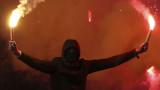 Ултрасите на Левски надъхват своите любимци преди дербито