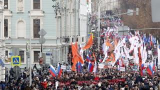 С многохиляден марш почетоха Борис Немцов
