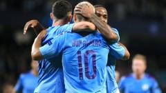 Сити разката Аталанта, два гола на Кун, хеттрик за Стърлинг