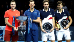 Майк Брайън и Джак Сок вдигнаха купата на двойки на финалите на ATP