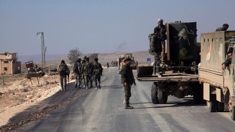 Ракетен обстрел по военен камион в Сирия