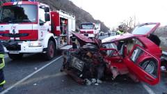 Трима ранени при тежка катастрофа на Кресненското дефиле