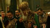 Патриарх Неофит получава награда редом с Томислав Николич и Сергей Наришкин