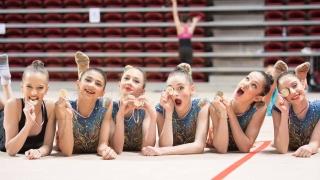Златен медал за ансамбъла ни по художествена гимнастика - девойки!
