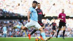 Манчестър Сити - Арсенал 3:1, Габриел Жезус вкарва трето гил за Сити