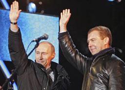 Официално: Медведев взима над 70% от гласовете