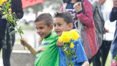 Ръководсто, футболисти и фенове почетоха и украсиха с цветя паметника на Гунди