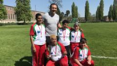Кубрат Пулев се срещна с момичетата от българския отбор по интегриран футбол