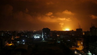 Израелски изтребители в отговор на ракета от Ивицата Газа