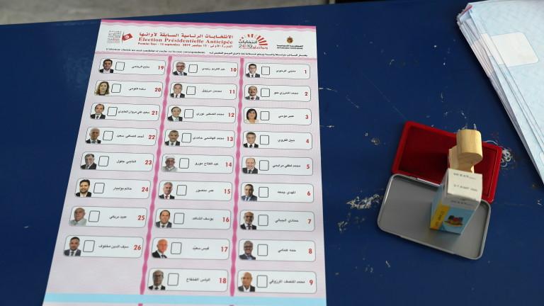 Нито един от кандидатите, участвали в президентските избори в Тунис,