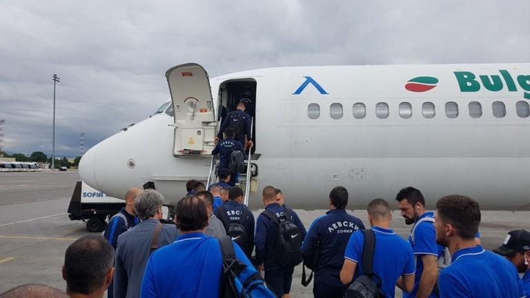 Левски лети към Словакия с брандиран самолет
