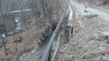 Пропадна пътят край Рилски манастир