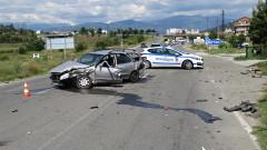 Катастрофа затрудни движението на един от изходите на Благоевград