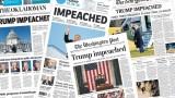 Как отразиха американските вестници историческия импийчмънт на Тръмп?