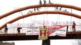 Фенове на ЦСКА от Хасково изразиха подкрепата си към Гриша Ганчев