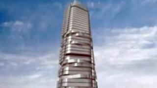 Москва с въртящ се небостъргач