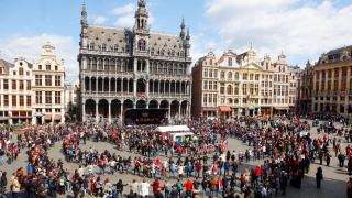 Голямо българско хоро се изви в Брюксел под егидата на Антонио Таяни