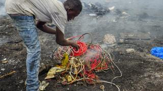 Електронни отпадъци от Европа тровят хранителната верига в Гана