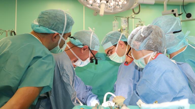Специалисти от Военномедицинската академия извършиха пета подред чернодробна трансплантация за