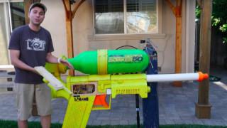 Воден пистолет, по-мощен от пожарникарски маркуч