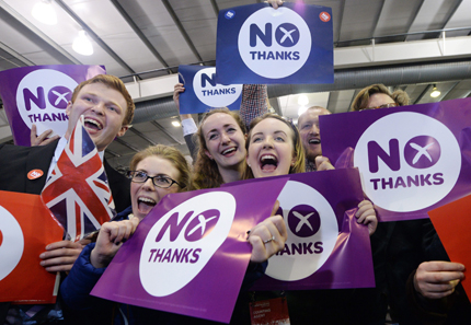 Европа облекчена от резултата на шотландския референдум