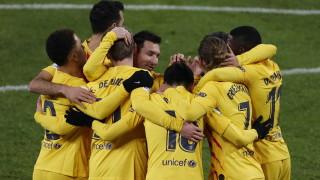 """Триумф на """"Сан Мамес"""" върна Барселона в битката за титлата"""