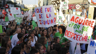 Протестът срещу икономиите в Мадрид завърши с арести