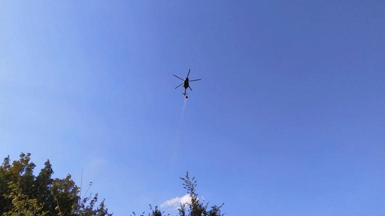 Около 4 дка е площта на пожара край Рилския манастир,