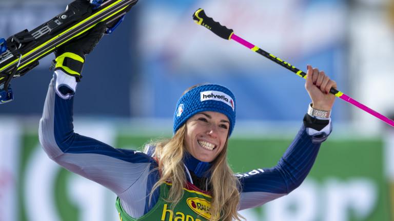 Италианката Марта Басино постигна втора поредна победа в гигантски слалом,