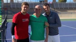 Григор Димитров тренира в Лас Вегас с Андре Агаси и Райън Харисън