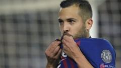 Барселона няма да може да разчита на Жорди Алба минимум един месец