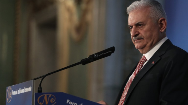 Премиерът на Турция Бинали Йълдъръм заяви, че страната му е