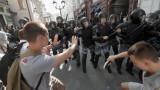 Над 1000 арестувани и полицейско насилие на протест в Москва